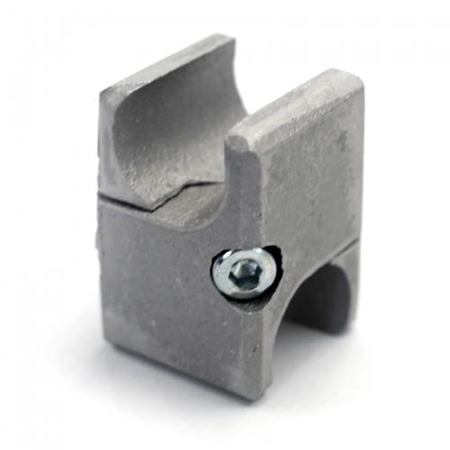 Raccord brut tube aluminium