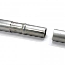 Manchon connecteur tubes aluminium
