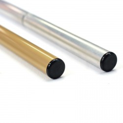 Bouchon noir tube aluminium