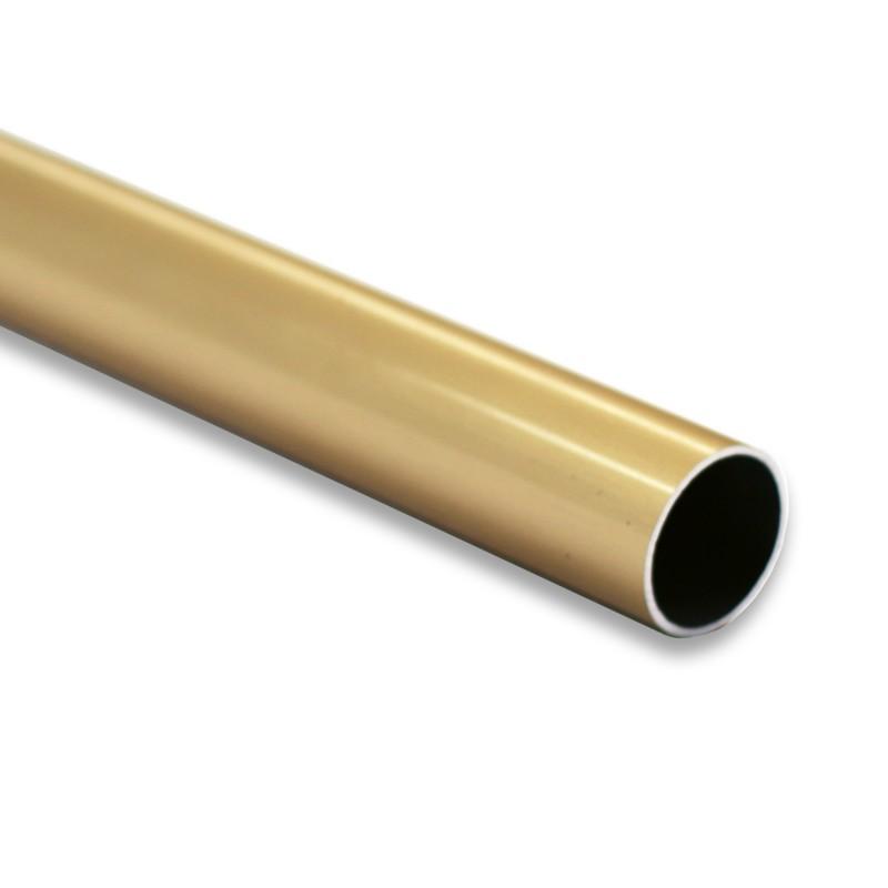 Tube aluminium doré
