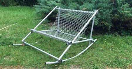 Structure tubulaire aluminium banc de jardin